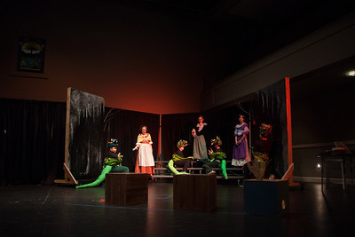 The dragons propose to the wicked mother and sisters, giving our fairy tale adaptation a happy ending for all.